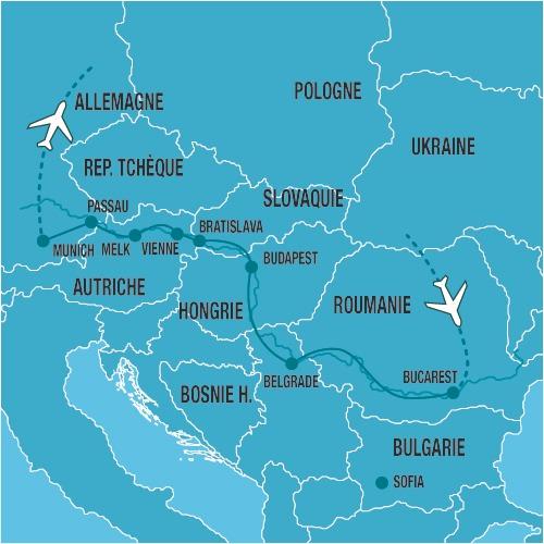Allemagne - Autriche - Bulgarie - Hongrie - Roumanie - Serbie - Slovaquie - Croisière Au Fil du Danube